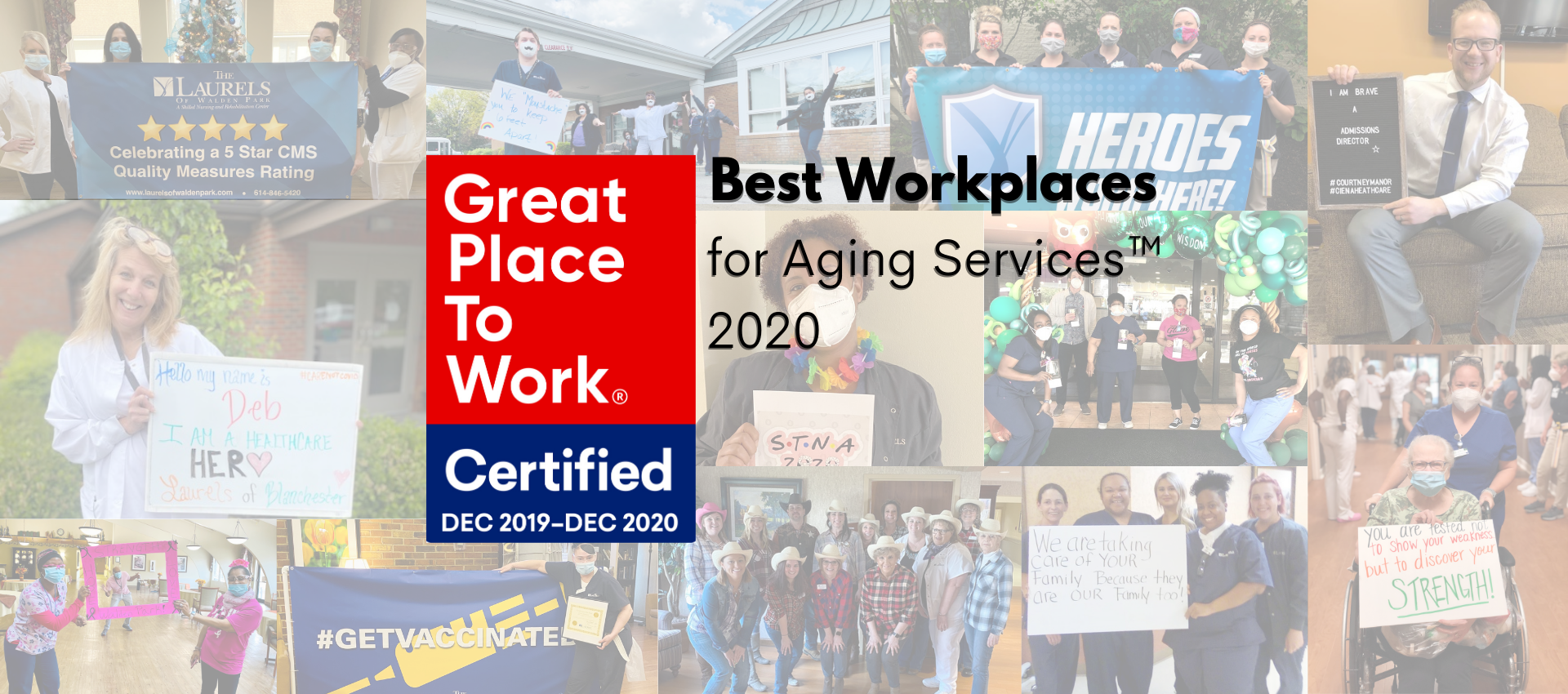 Laurels - A great place to work banner